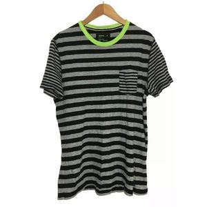 Express Jersey Tee Short Sleeve Striped Tee Pocket